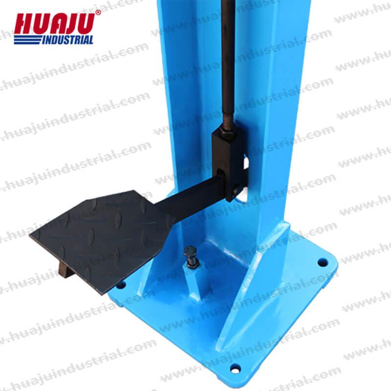 16 Gauge Corner Control Notching, 3 × 3 inch foot operated notcher, FN-1.5×80