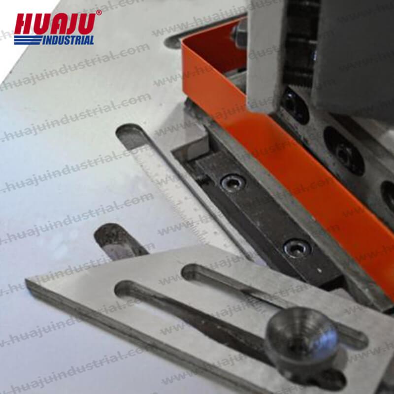 HN-4, 16 gauge 6x6 inch metal corner notcher