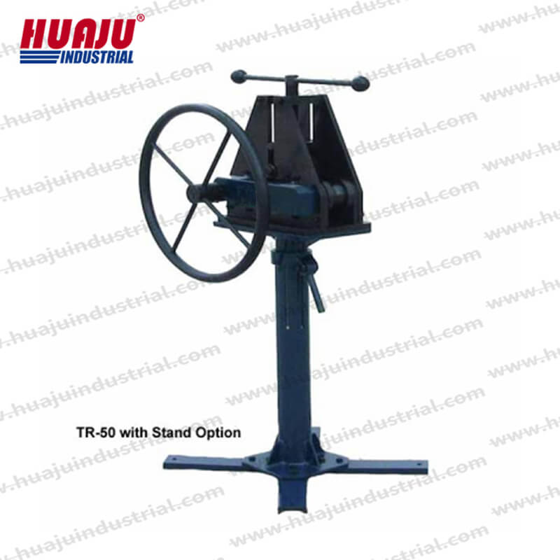 TR-50 manual pipe tube roller with stand