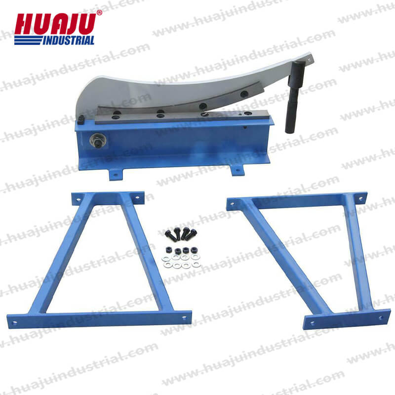 manual benchtop guillotine shears hs-500, hs-800, hs-1000, hs-1300, metal cutting tools